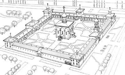 План строительства монастыря у деревни Всеволодкино
